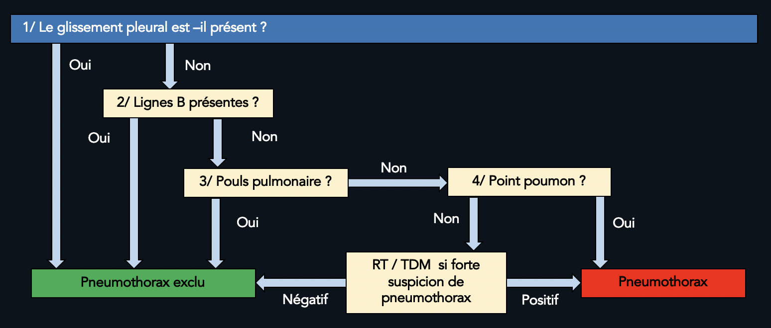 Algorithme d'infirmation / affirmation du pneumothorax